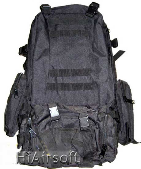 Outdoor Backpack Black color at HiAirsoft Store