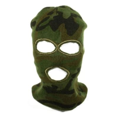Green SWAT Full Face Protector Three Holes Knit Airsoft Mask