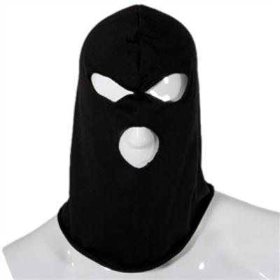 Cool 3 Hold Full Face Protector Hole Knit Mask - Black