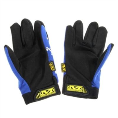 Full Fingers Gloves with Nylon and Rubber Blue for airsoft gear
