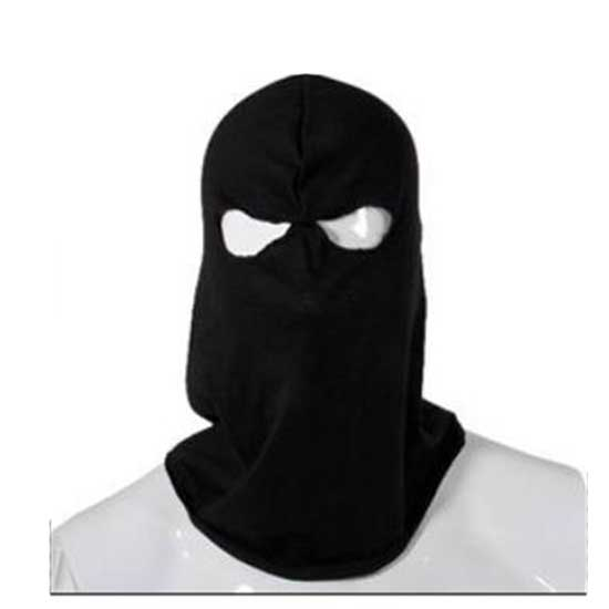 Cool Full Face Mask High Quality Cotton Two Hole Knit Black