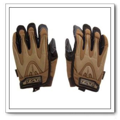 Airsoft Full Finger Gloves with MP Leather and Fabric Brown