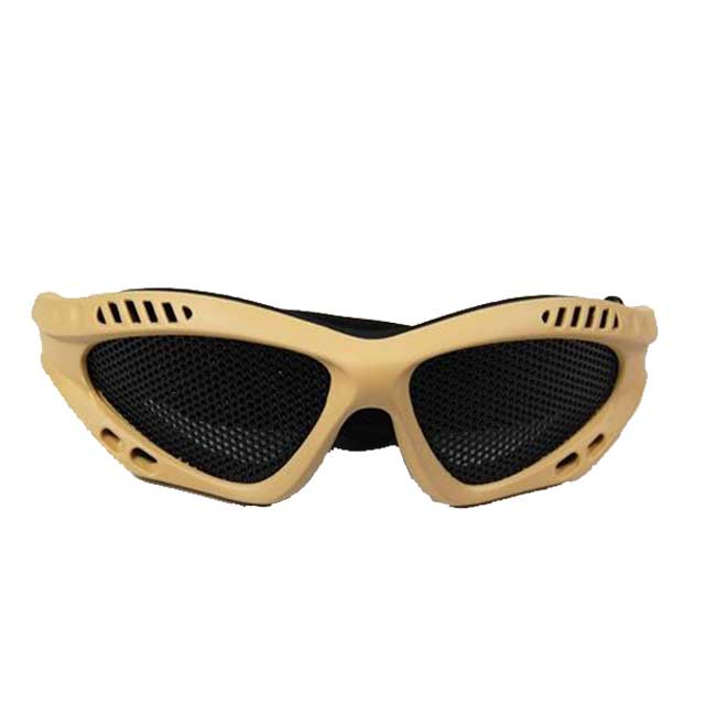 Airsoft Mesh Goggles DL Style(tan) for Combat Gear