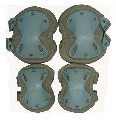 Brand New Tactical Knee & Elbow Protect Pad Set Green Y5058