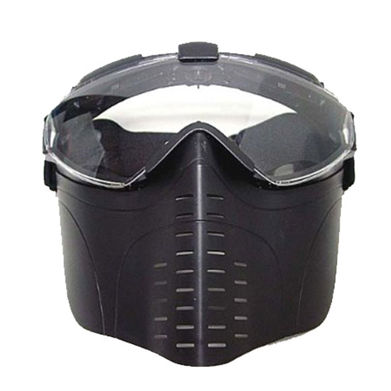 Full Face Tacticfal Proctive Goggle Airsoft Mask Black