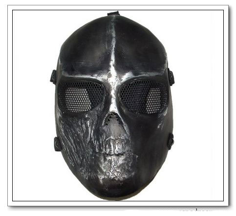 Tactical Full Face Airsoft Killer Mask Copper Black