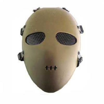 Tactical Airsoft Paintball Full Face Mask Goggles Tan
