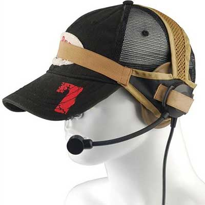 Tactical Selex TASC1 Military Headset with Standard Plug Tan