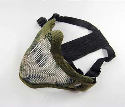Airsoft Half Face Mask TMC V5 Strike Mesh Green CAMO