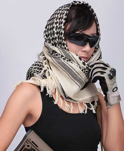 Tactical Military Shemagh Arab scarf Chequered Casual Wrap