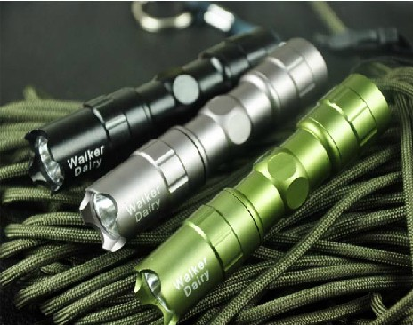Dull Polish Glare flashlight Walker diary EDC Tactical Flashligh