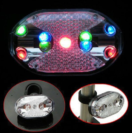 Outdoor Help Bicycle lights riding ring 9 led colorful style