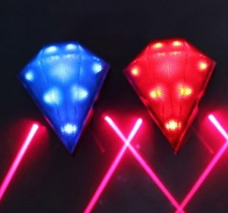 Diamond laser light gem safety warning lamp bicycle airsoft