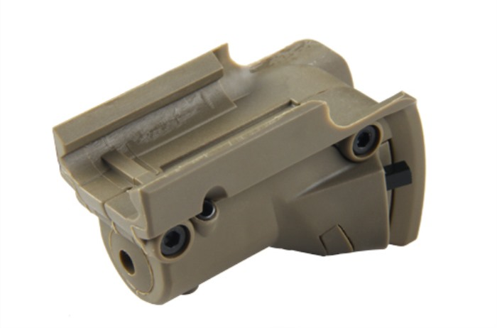 Tactical Pistol Glock Red Laser Device Sight Lateral Grooves TAN