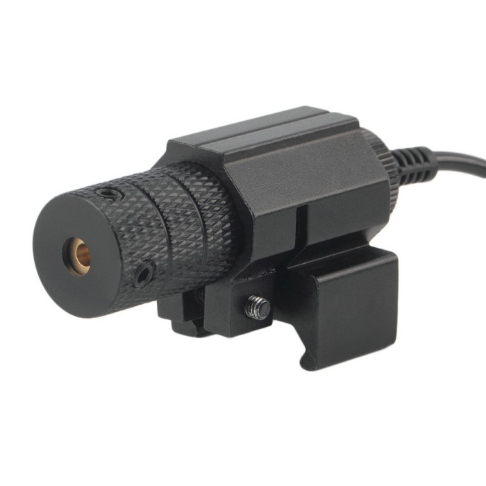 Tactical Mini Red Laser Sight With Tail Switch Scope Pistol Tail