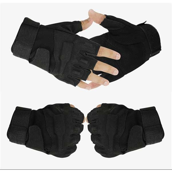 Blackhawk Hellstorm Tactical Half finger Gloves Combat Black
