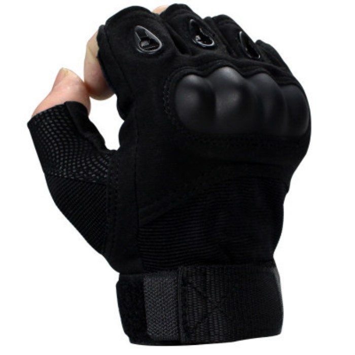 TMC Tactical Gloves Airsoft Sports Gear Half Finger Protect Glove BK