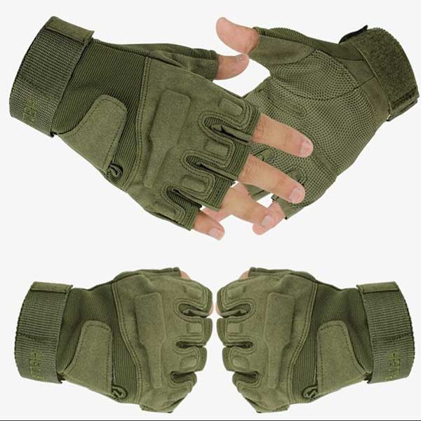 Blackhawk Tactical Protect Operation Half Finger Assault Glove OD