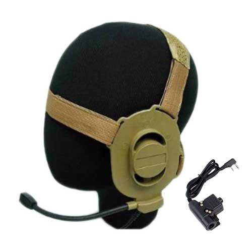 Tactical ELITE II Headset Militar DE and U94 PTT Kenwood 2 Pin Radio