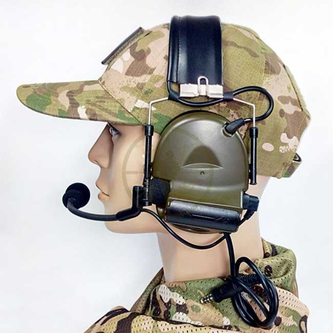 T Comtac II Electronic Headsets Noise Reduction Combat Earmuffs FG
