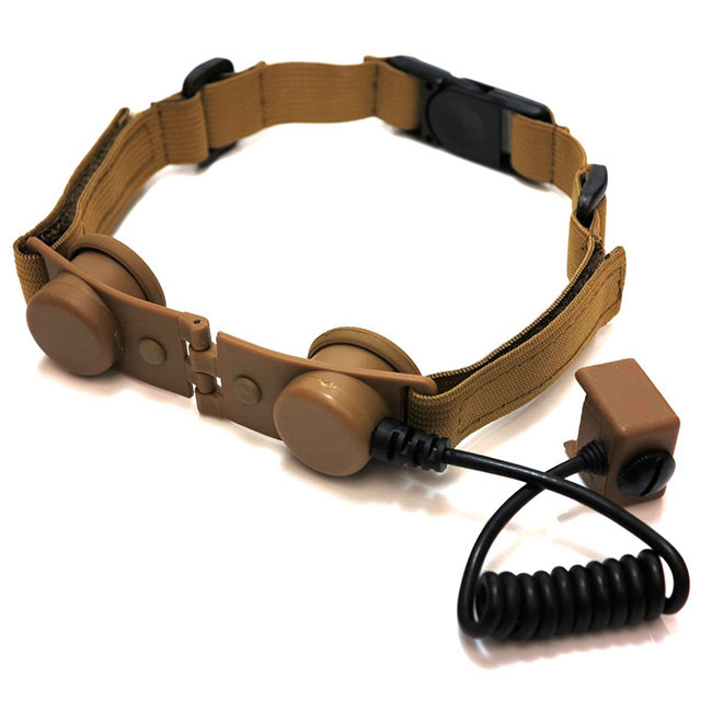 Tactical Throat Mic Adapter Interface Dual for Bowman Headsets DE