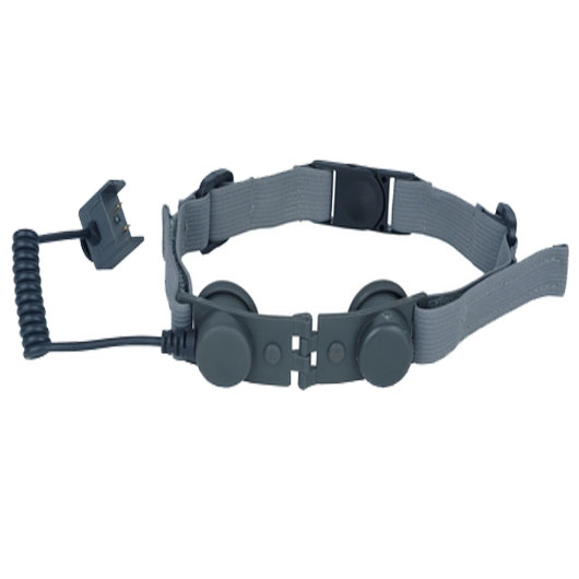 Tactical Throat Mic Adapter Comfortable Neck Band Bowman Headsets FG