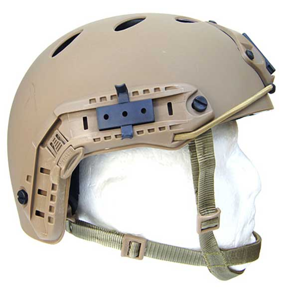 Airsoft FAST Base Jump Style Helmet DE head borne accessories