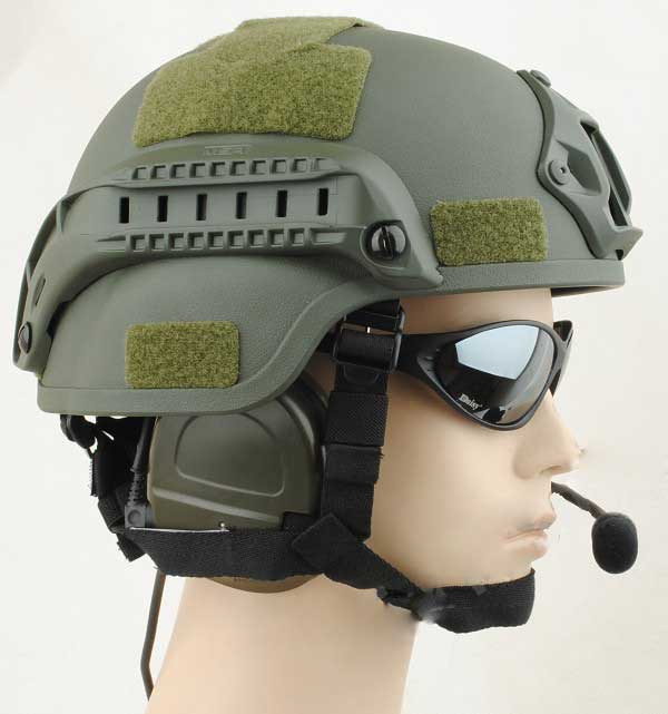 MICH 2000 Helmet Action Airsoft Matrix with NVG Mount & ARC Rail FG