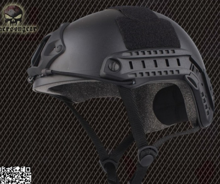 Tactical Helmet Airsoft Combat Sports Safety Military Helmet MH BK