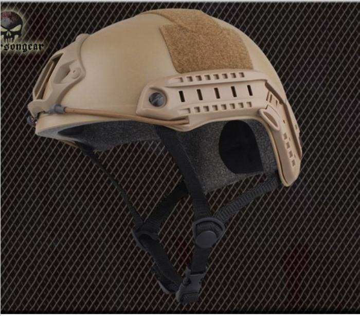 Tactical Helmet Airsoft Combat Sports Safety Military Helmet MH TAN