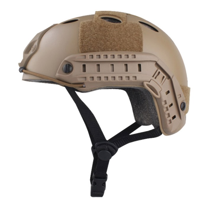 Tactical Airsoft Fast Helmet Military Sport Helmet w Fast Hole TAN