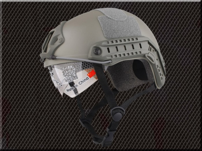Tactical Airsoft Fast Helmet Sport Helmets with Goggle No Hole FG