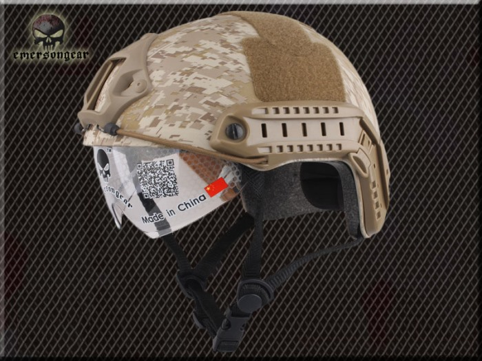 FAST Durable Airsoft Fast Helmet Camouflage Complete w Goggle SAMH