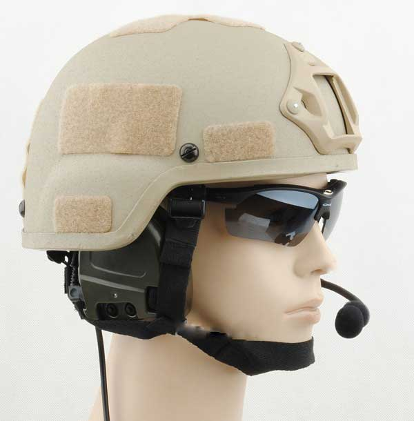 Mich 2000 Helmet with NVG Mount Matrix Airsoft TAN for sale