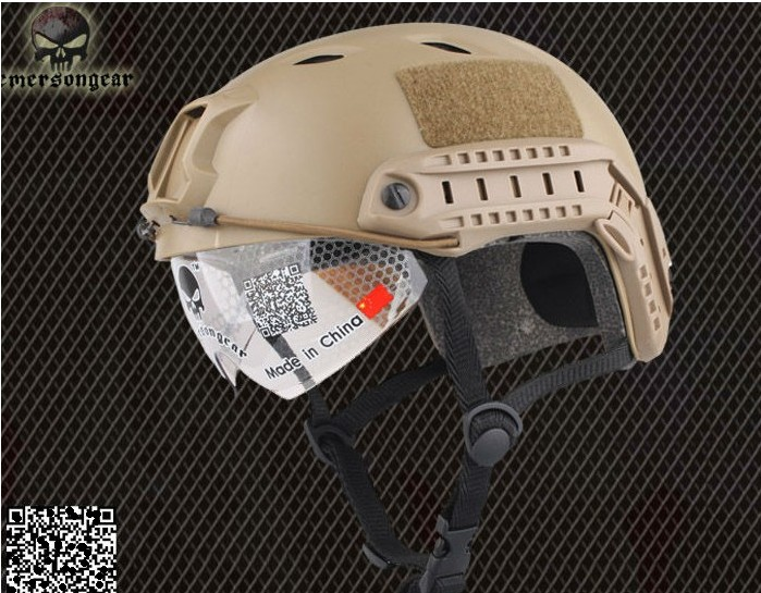 NEW Emerson FAST Base Jump Helmet with Protective Goggle DE