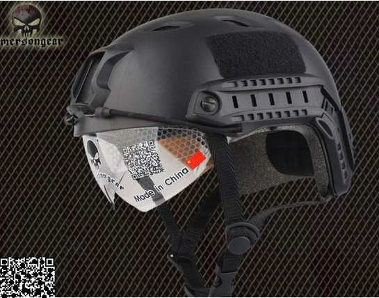 NEW FAST Base Jump Military Helmet with Protective Goggle BLlack