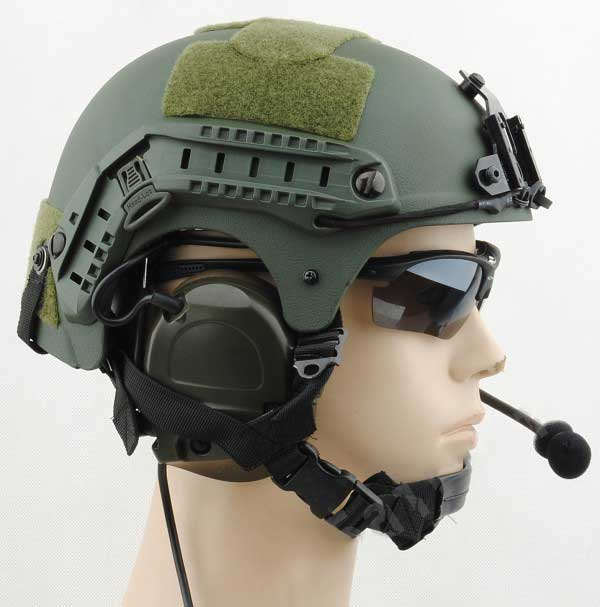 IBH Helmet with NVG Mount & Side Rail Tactical Protect OD