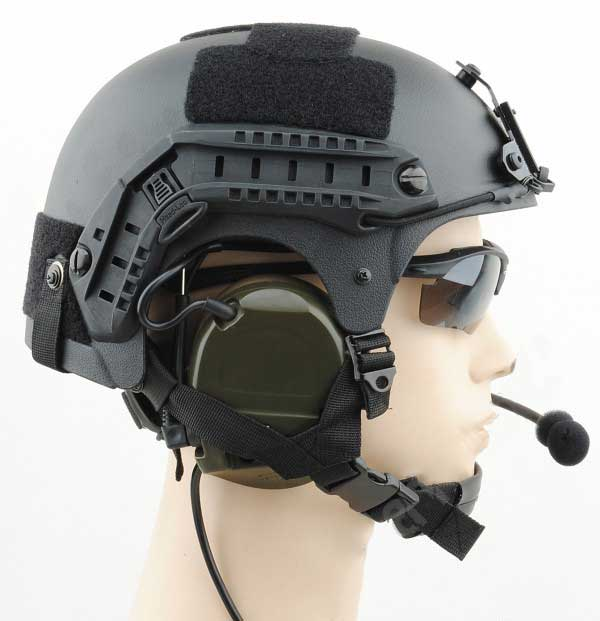 IBH Helmet with NVG Mount & Side Rail ABS Composite Black