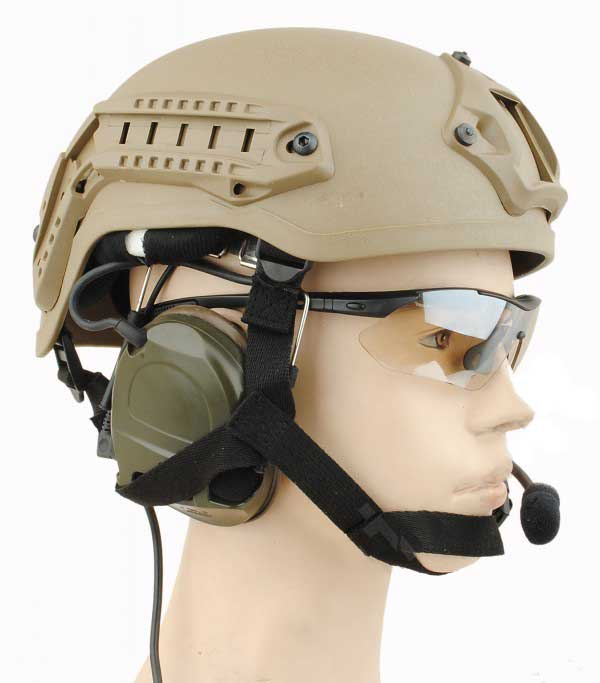 MICH 2001 Helmet NVG Mount & ARC Rail ABS Composite Tan