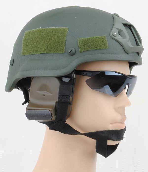 MICH 2002 Helmet SOPMOD Style with NVG Mount & Side Rail OD