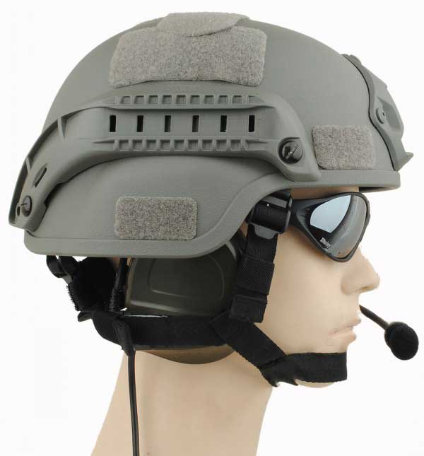 MICH 2000 Helmet Action Airsoft with NVG Mount & ARC Rail Gray