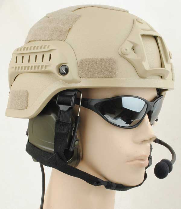 Perfect IBH Helmet NVG Mount & Side Rail ABS Composite Tan