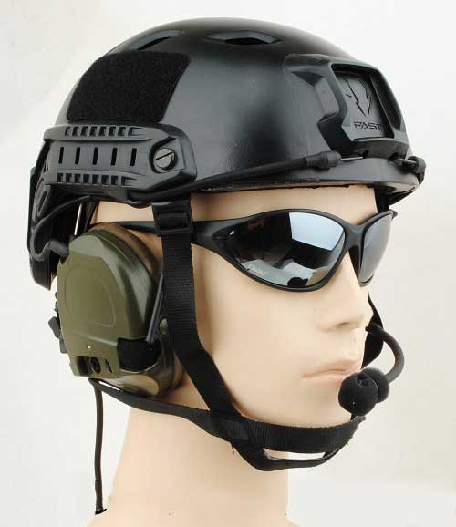 Airsoft FAST Base Jump Combat Style Helmet Black for sale