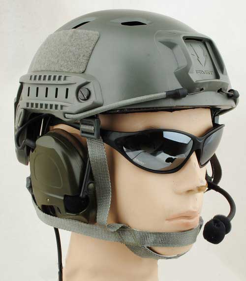 FAST Base Jump Helmet Adjustable Foliage Green for sale