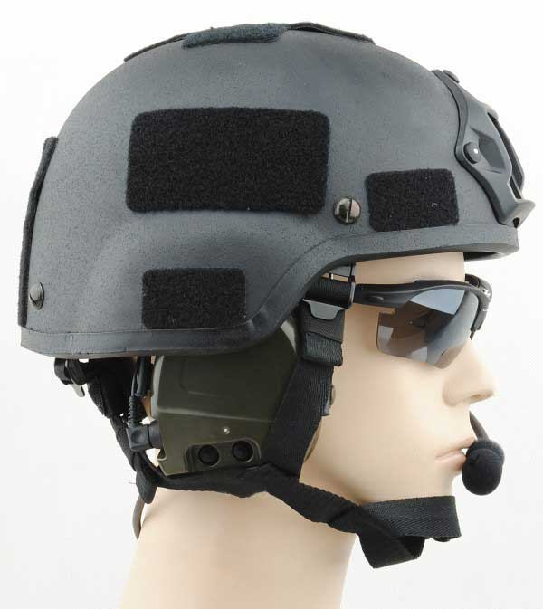 Mich 2000 Helmet with NVG Mount Black free size for sale
