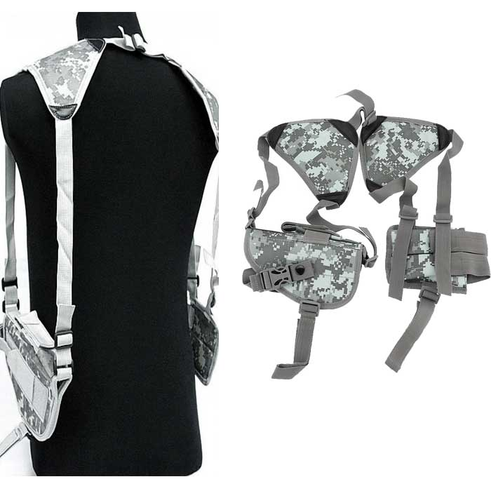 Tactical Double pistol Adjustable Shoulder Holster with mag pouh ACU