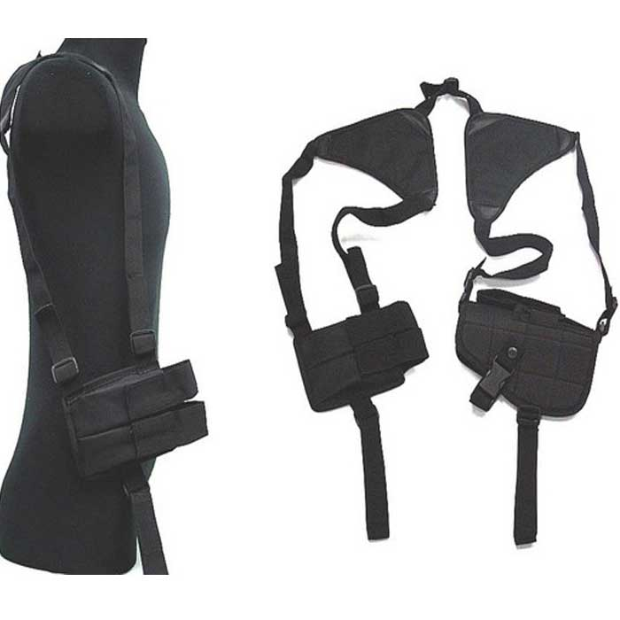 Tactical Military Police Covert Gun Pistol Shoulder Holster BK
