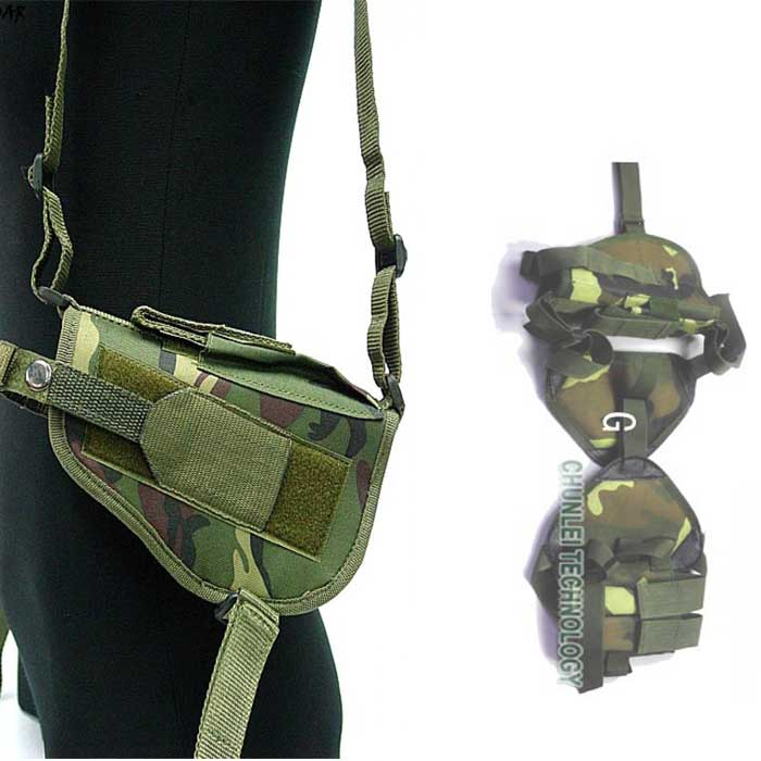 Tactical Army Police Pistol Pouch Shoulder Holster Double Mag Pouch