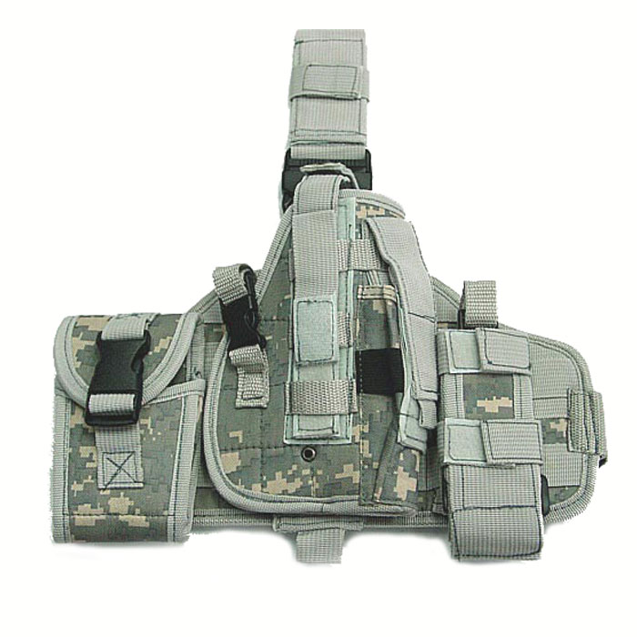 Molle Platform Drop Leg Holster Modular with MOLLE Pouches Mag ACU