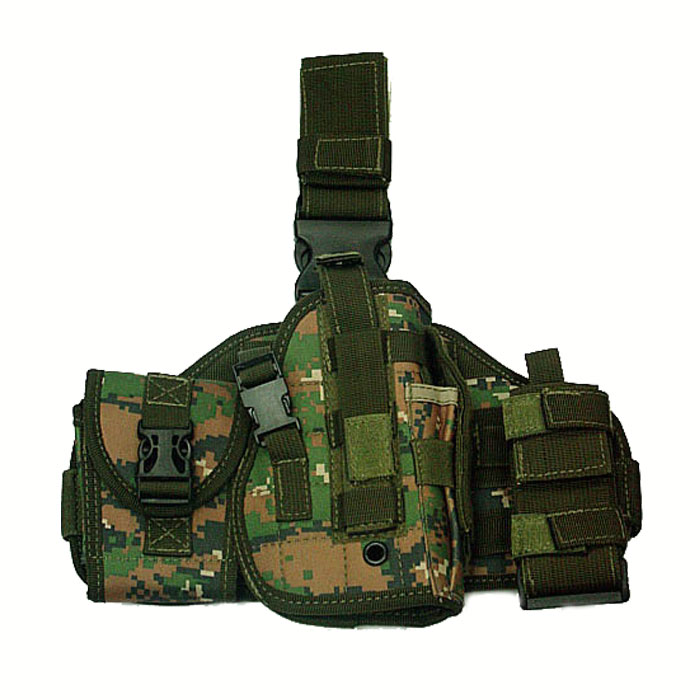 Molle Platform Tactical Modular Drop Leg Platform with Pouches Mag